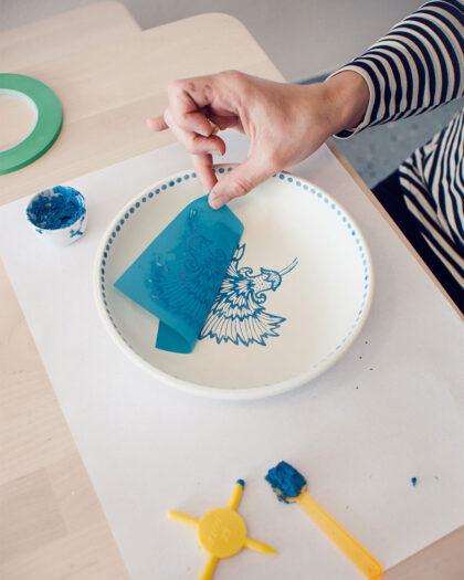 Keramik verzieren